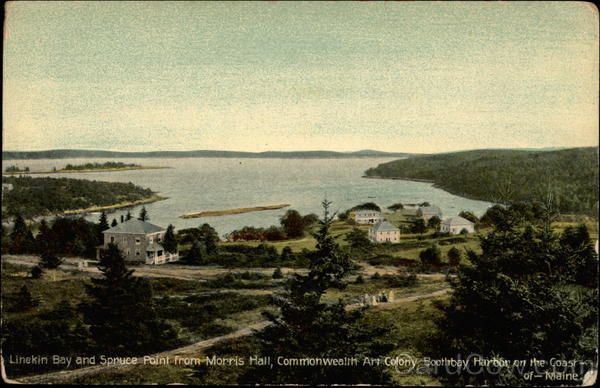 Linekin Bay and Spruce Point from Morris Hall