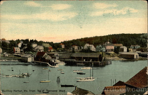Boothbay Harbor, Me. from top of Townsend Block