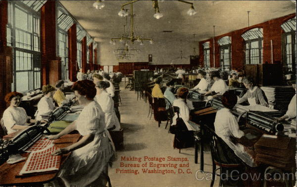 Making Postage Stamps - Bureau of Engraving and Printing Washington District of Columbia