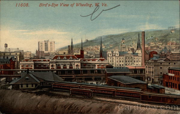 Bird's-Eye View of Wheeling, W. Va West Virginia
