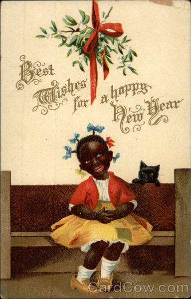 Best Wishes for a Happy New Years Black Americana