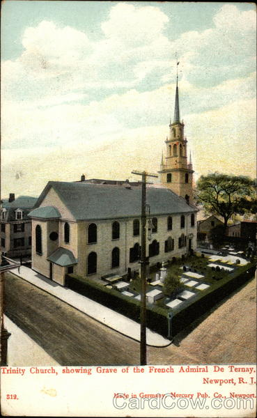 Trinity Church, showing Grave of French Admiral De Ternay Newport Rhode Island