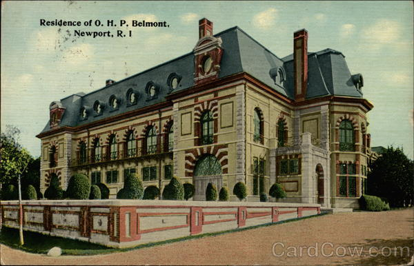 Residence of O.H.P. Belmont Newport Rhode Island