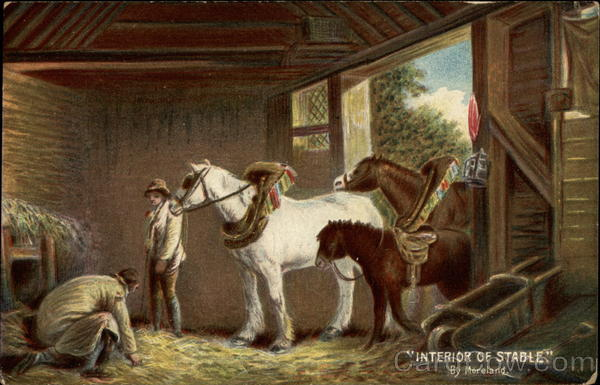 Interior of Stable, by moreland Horses