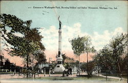 Entrance to Washington Park, Showing Soldiers' and Sailors' Memorial