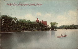 Garfield Park, Refectory and Lagoon Postcard
