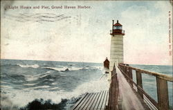 Light House and Pier, Grand Haven Harbor