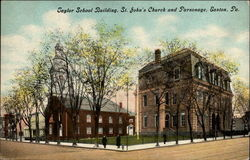 Taylor School Building, St. John's Church and Parsonage