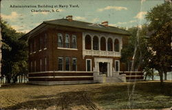 Administration Building at Navy Yard Postcard