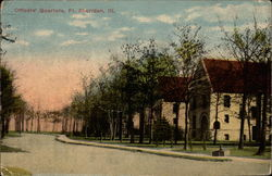 Officers' Quarters, Fort Sheridan, Ill Postcard