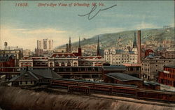Bird's-Eye View of Wheeling, W. Va
