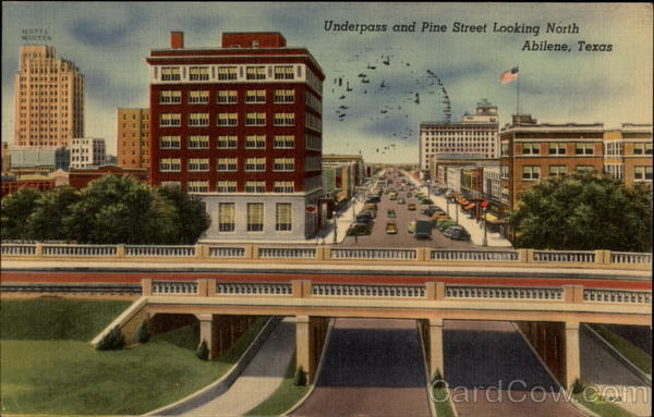 Underpass and Pine Street Looking North Abilene Texas