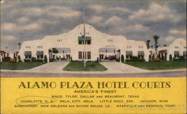 Alamo Plaza Hotel Courts Charlotte North Carolina