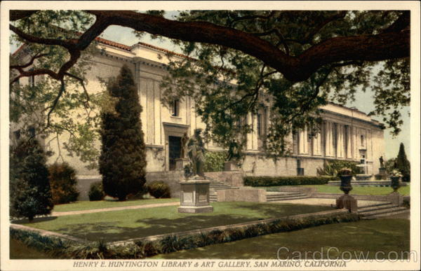 Henry E. Huntington Library & Art Gallery San Marino California
