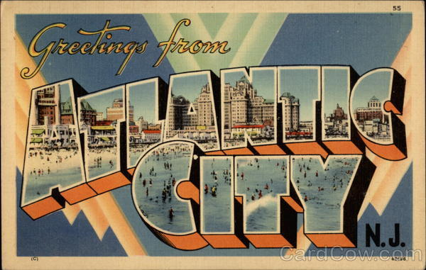 Greetings form Atlantic City, N.J Large Letter