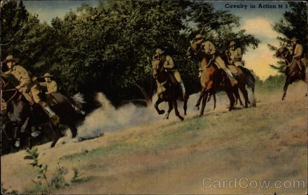 Cavalry in Action Cowboy Western