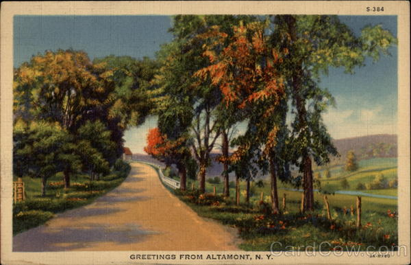 Greetings from Altamont, N.Y New York