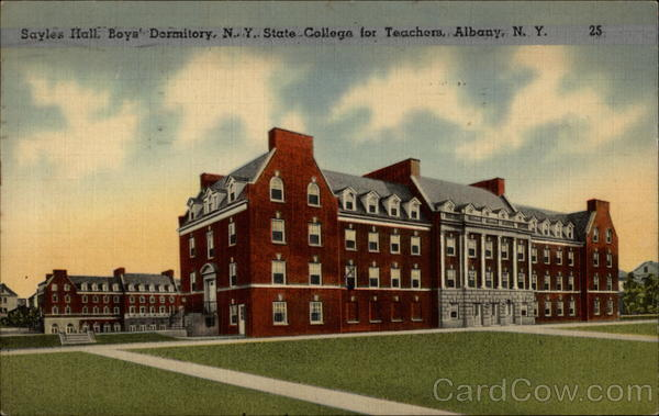 Sayles Hall, Boys' Dormitory, N. Y. State College for Teachers Albany New York