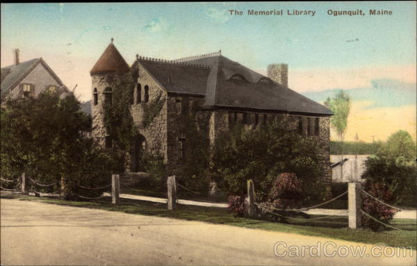 The Memorial Library Ogunquit Maine