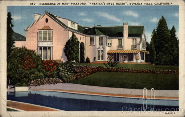 Residence of Mary Pickford, America's Sweetheart Beverly Hills California