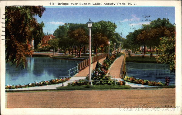 Bridge Over Sunset Lake Asbury Park New Jersey