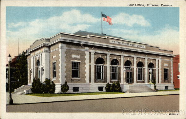 Post Office Parsons Kansas