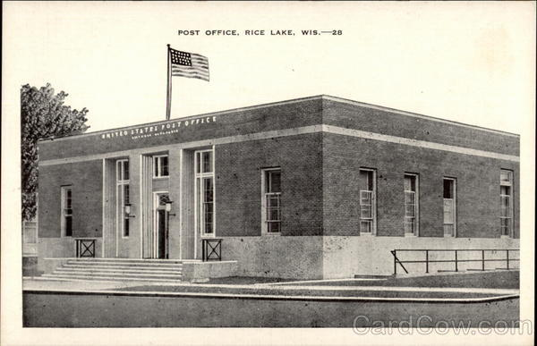 Post Office Rice Lake Wisconsin