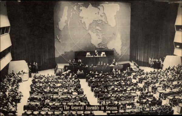 The General Assembly in Session, United Nations Lake Success New York