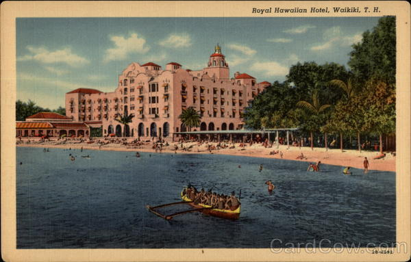 Royal Hawaiian Hotel, Waikiki, T. H Honolulu