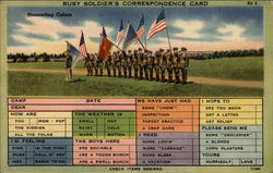 Busy Soldier's Correspondence Card