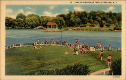 Lake in Onondaga Park Postcard
