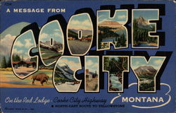 A Message from Cooke City Montana Postcard
