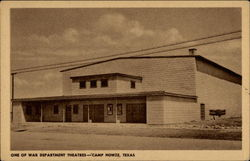 One of War Department Theatres, Camp Howze Postcard