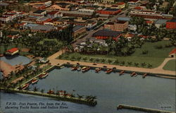 F.P. 30 - Fort Pierce, Fla. from the Air, showing Yackt Basic and Indian River