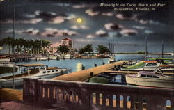 Moonlight on Yacht Basin and Pier