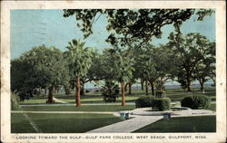 Looking toward the Gulf - Gulf Park College, West Beach