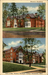 Women's Dormitory; Hall of Men; Western Michigan College