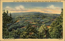 H-7 View of Valley and Pisgah Mountain Range from Jump-off