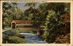 Old Covered Bridge over Valley Creek