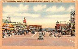 Old Orchard Street, Showing Roller coaster and Cyclone