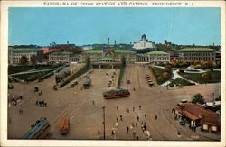 Panorama of Union Station and Capiol