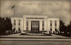 Republic County Court House Postcard