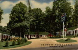 Oakwood Motor Court Postcard
