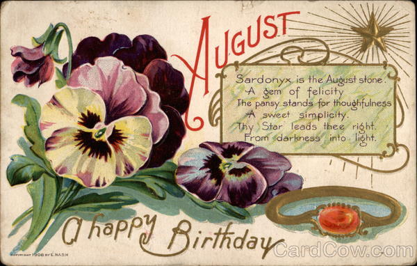 Happy August Birthday Months