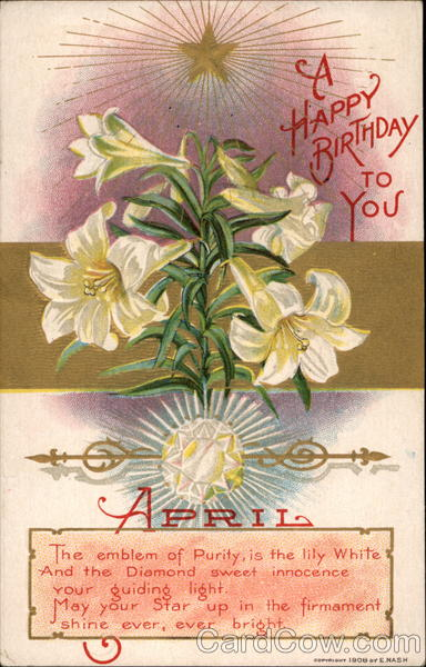 Birthday Lilies April Months
