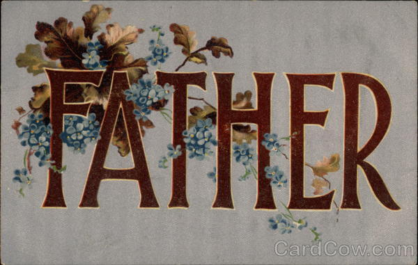 Father Vintage Post Card
