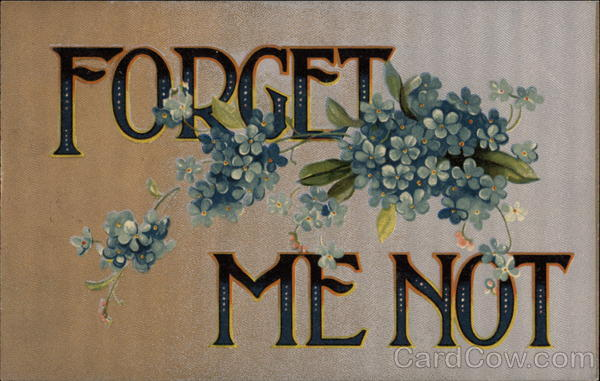 Forget me not Greetings