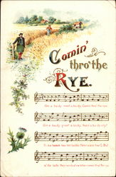 comin thro the rye analysis The poem, comin thro the rye, by robert burns is probably best known because of holden's misinterpretation of it in the catcher in the ryehe tells his fantasy to his sister, phoebe (he's the catcher in the rye, rescuing children).