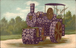 Dove with Floral Tractor