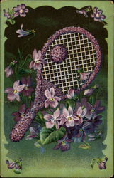 Tennis and flowers